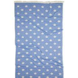 Полотенце пляжное Pestemal Stars Blue Голубое BARINE