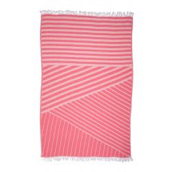 Полотенце пляжное Pestemal Cross Pink Розовое BARINE