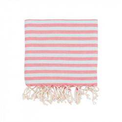 Полотенце пляжное Pestemal Herringbone Flamingo-mint  BARINE