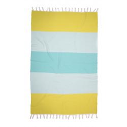 Полотенце пляжное Pestemal Block Green-lt.blue-mint BARINE