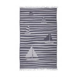 Полотенце пляжное Pestemal Sail Navy Синее BARINE
