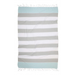 Полотенце пляжное Pestemal Journey Mint-Grey BARINE