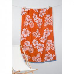 Полотенце пляжное Pestemal Aloha Oranj Оранжевое BARINE