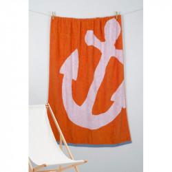 Полотенце пляжное Pestemal Anchor Oranj  BARINE