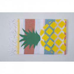 Полотенце пляжное Pestemal Ananas  Orange-turkuaz-yellow BARINE