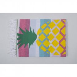 Полотенце пляжное Pestemal Ananas  Green-turkuaz-raspberry BARINE