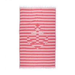 Полотенце пляжное Pestemal Undercover Anchor Red Красное BARINE