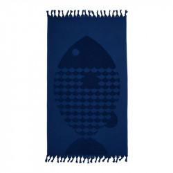 Полотенце Fish lacivert Синее BARINE