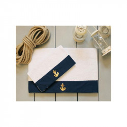 Полотенце махровое Anchor navy Синее BARINE