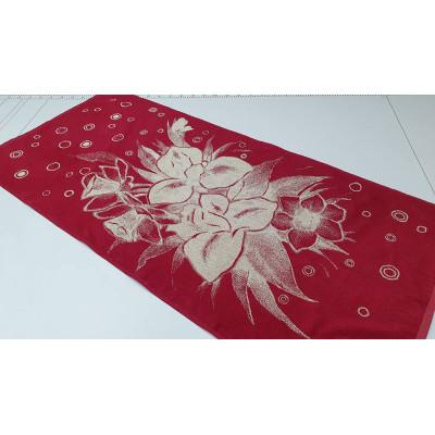 Полотенце Ирисы (красный)