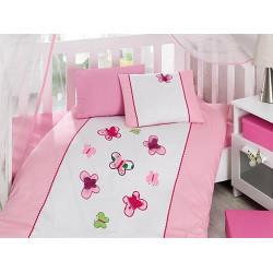 Комплект для новорожденных с вышивкой Kelebek Pembe COTTON BOX