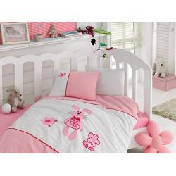 Комплект для новорожденных с вышивкой Minik Tavsan COTTON BOX