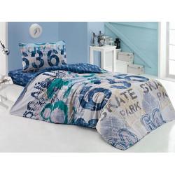 Подростковое постельное белье URBAN LACIVERT COTTON BOX