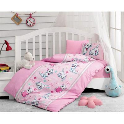Детский комплект постельного белья Miyav Pembe COTTON BOX