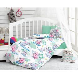 Детский комплект постельного белья Elephant Mint COTTON BOX