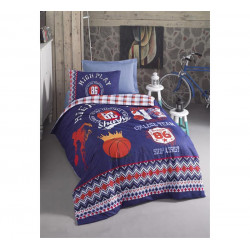 Подростковое постельное белье Basketball Lacivert COTTON BOX COTTON BOX