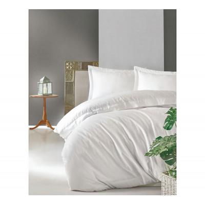 Однотонное постельное белье Elegant Series Beyaz COTTON BOX