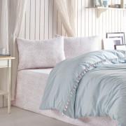 Однотонное постельное белье Rita Mint COTTON BOX