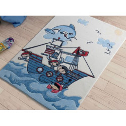 Коврик для ванной Smiley Dolphin Blue Confetti
