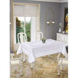 Скатерть Damask White 5698-8 Tropik home