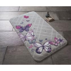Коврик для ванной Butterfly Plaid Purple Confetti TM