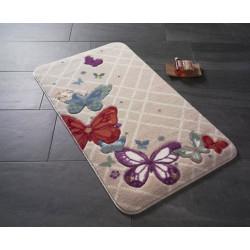 Коврик для ванной Butterfly Plaid Red Confetti TM