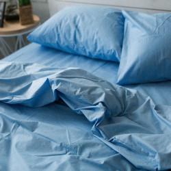 Постельное белье Голубое Поплин ХЛОПКОВЫЕ ТРАДИЦИИ