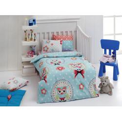 Постельное белье в кроватку Baykusa Mavi Eponj Home