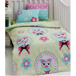 Постельное белье в кроватку Baykusa Yesil Eponj Home