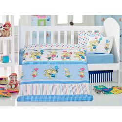 Постельное белье в кроватку Pitircik Mavi Eponj Home