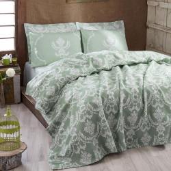 Постельное белье Пике Pure su yesil Зеленое Eponj Home