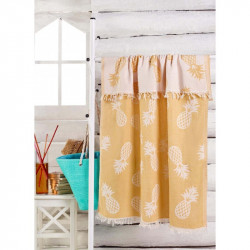 Полотенце пляжное Jakarli Ananas koyu sari желтое Eponj Home