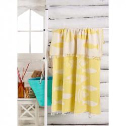 Полотенце пляжное Jakarli Balik sari желтое Eponj Home