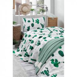 Покрывало пике Kaktus yesil Зеленое вафельное Eponj Home