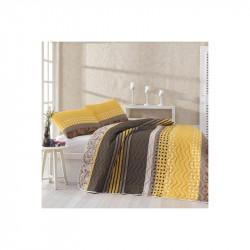 Покрывало стеганное с наволочками Miranda Sari желтое Eponj Home