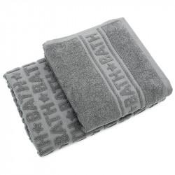 Набор махровых полотенец BATH Серый ТМ ИДЕЯ