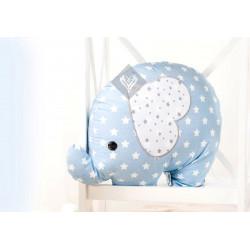 Подушка игрушка Слоненок Голубой/Звезда ТМ ИДЕЯ