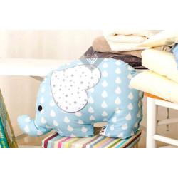 Подушка игрушка Слоненок Голубой/Капля ТМ ИДЕЯ