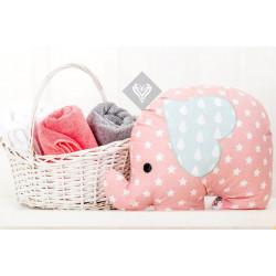 Подушка игрушка Слоненок Пудра/Звезда ТМ ИДЕЯ