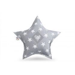 Подушка игрушка Звезда XXL Серая ТМ ИДЕЯ