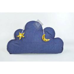 Подушка игрушка Облако Темносинее ТМ ИДЕЯ