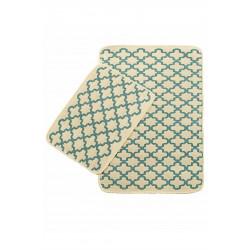 Набор ковриков Solo Krem Mavi Geometri IzziHome