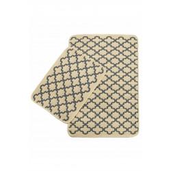 Набор ковриков Solo Krem Gri Geometri IzziHome