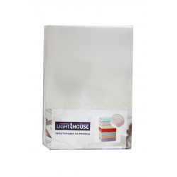 Трикотажная простынь на резинке Светло-бежевая TM LightHouse