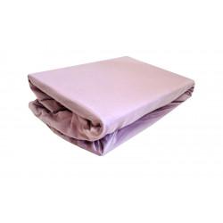 Трикотажная простынь на резинке Темно-розовая TM LightHouse