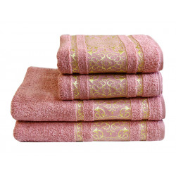 Полотенце махровое Imperial Серо-Розовое TM LightHouse