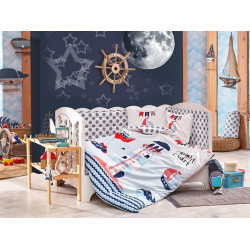 Детское постельное белье Baby Sailor Голубое Hobby