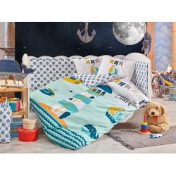 Детское постельное белье Baby Sailor Зеленое Hobby