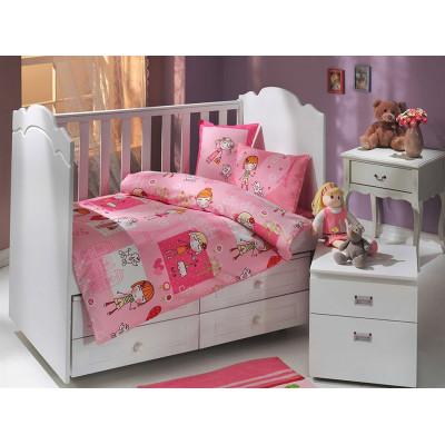 Детское постельное белье City Girl Розовое Hobby