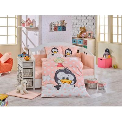 Детское постельное белье Penguin Персиковое Hobby
